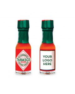 TABASCO® Personalized Miniatures, case of 500