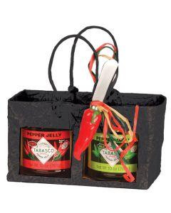 GIFT SET, BAG HOLDS 1 GREEN & 1 RED PEPPER JELLY