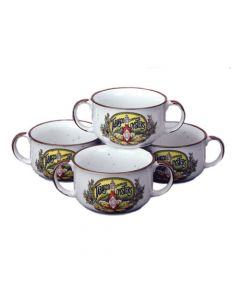BOWL, GUMBO, 2-HANDLE, SET OF 4