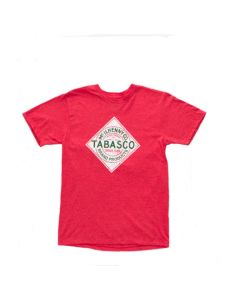 TABASCO® Diamond T-Shirt with Distressed Logo