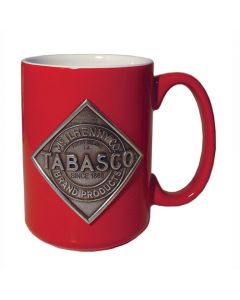 MUG, RED W/PEWTER LOGO (15 OZ.) (HERITAGE METAL CM10314RD)
