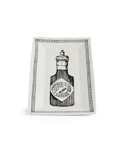 Vintage Bottle Rectangular Platter