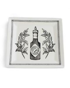 Vintage Bottle Square Platter