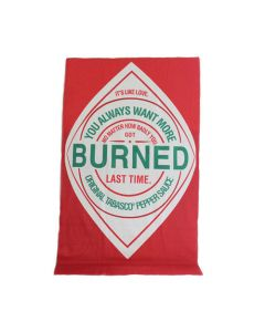 "TABASCO® ""You Got Burned"" Diamond Logo Beach Towel"
