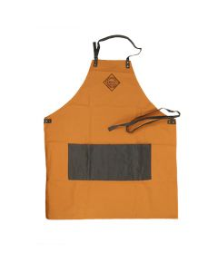 Light Brown Canvas Apron with Pockets