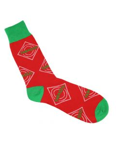Red Unisex Diamond Logo Crew Socks